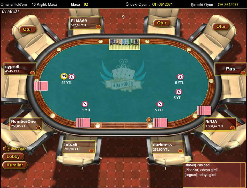Ada Omaha Poker